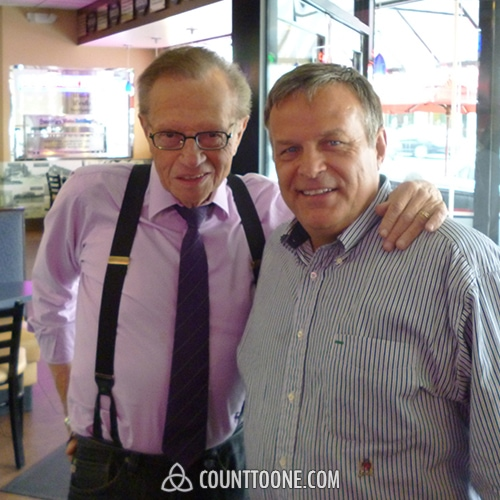 Larry King, American television and radio host
